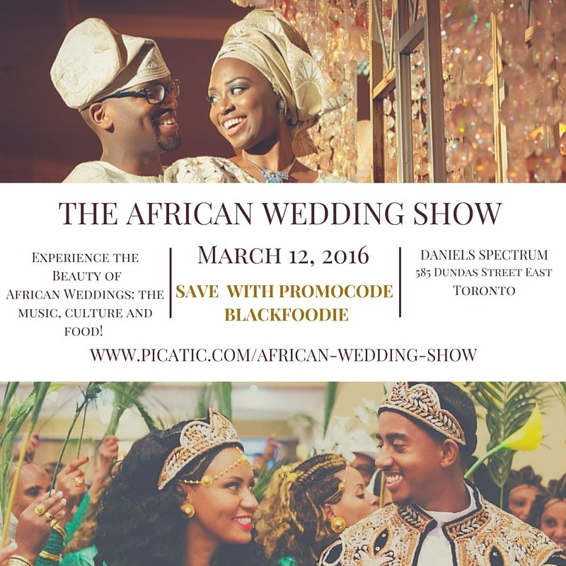Wedding show- blackfoodie