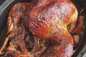 Jamaican Rum Glazed Turkey with a special Caribbean inspired Cornbread!